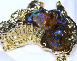 160CTS AUSTRALIAN MAP SOUVENIR RJA-1597      Rarejewelry