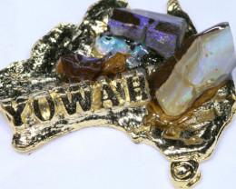 157.45CTS AUSTRALIAN MAP SOUVENIR RJA-1598      Rarejewelry