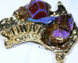 167.85CTS AUSTRALIAN MAP SOUVENIR RJA-1600     Rarejewelry