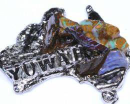 156.50CTS AUSTRALIAN MAP SOUVENIR RJA-1601     Rarejewelry