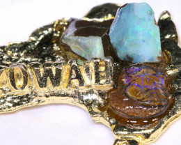 159.30CTS AUSTRALIAN MAP SOUVENIR RJA-1606     Rarejewelry