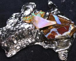 154.55CTS AUSTRALIAN MAP SOUVENIR RJA-1609     Rarejewelry