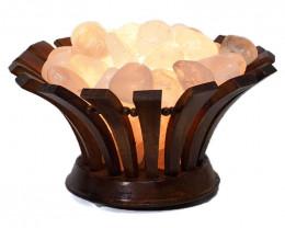 2kg Clear Quartz Crystal Gemstones Lotus Lamp