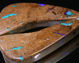 60.80 CTS BOULDER OPAL PIPE DRILLED PAIR  AO-413 Australiaoutbackopals