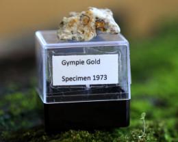 Collectors 1973 Gympie quartz Gold Specimen LGN 3-16
