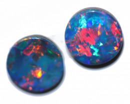 1.00 Cts Gem Grade Australian Doublet Opal Pair  RD 374