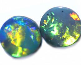 1.50 Cts Gem Grade Australian Opal Doublet Pair  RD 379