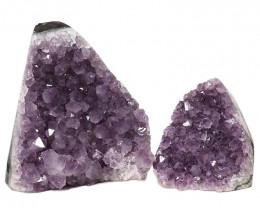 2.65kg Amethyst Polished Crystal Geode Specimen Set 2 Pieces DN338