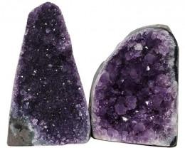 2.50kg Amethyst Polished Crystal Geode Specimen Set 2 Pieces DN343