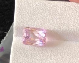 4.10 carats, Natural Pink Kunzite.