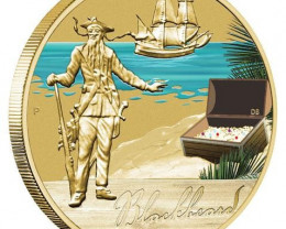 Blackbeard Notorious Pirate one dollar coin-Perth Mint 2010