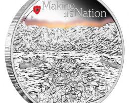 ANZAC SPIRIT 100TH ANNIVERSARY COIN 2015 1OZ SILVER PROOF COIN