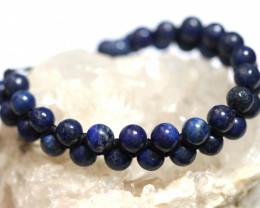Dual 8mm lapis lazuli bracelet code AHA 1565