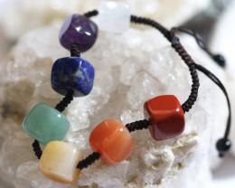 7 stylish Square Stone Chakra Bracelet code AHA 1577