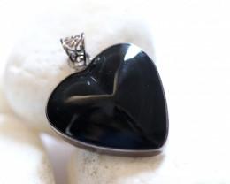 35 Cts Rainbow Iridescent Obsidian Heart Shape AHA 1584