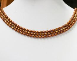 Three Gold Tip Drill Pearl strands GOGO 1210