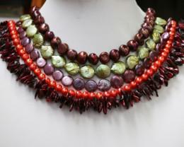 Five Exitic Mixed Pearl strands GOGO 1189