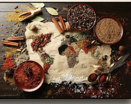 Spices & Grains of the World canvas print  code PR 3