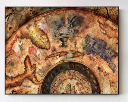 Ancient Treasure Map Canvas print  code PR 4