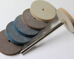 6 PIECE RUBBER DISKS FOR CARVING AND CUTTING STONE WORK HSF