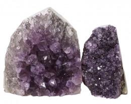 2.77kg Amethyst Crystal Geode Specimen Set 2 Pieces DN382