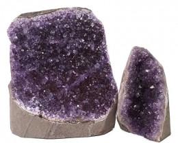 2.25kg Amethyst Crystal Geode Specimen Set 2 Pieces DN384