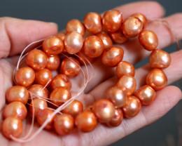Baroque Orange Pearl strand GOGO 1854