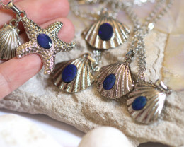 Sea Collection -5  Classic Shell design with Aussie Opals Wholesale CH 1061