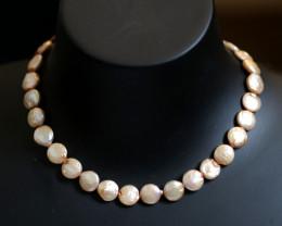 Coin Pearl Beige/Cream Pearl strand GOGO 1872