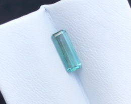 1.25 Carats Natural Blue Tourmaline Cut Stone from Afghanistan