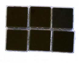 Australian made Square gem boxs parcel of 6 boxs