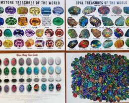Four Posters -Black Opals, Body Tone, Opal Treasures ,Gemstone Treasures
