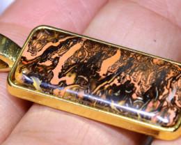 21.80CTS- KOROIT OPAL PENDANT GOLD PLATED  AO-506 australiaoutbackopal