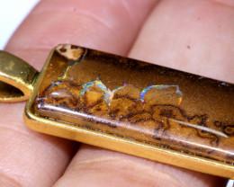 23.30CTS- KOROIT OPAL PENDANT GOLD PLATED  AO-513 australiaoutbackopal