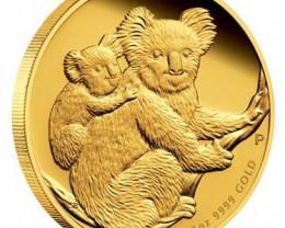 AUSTRALIAN KOALA 2008 1/10 PROOF  GOLD COIN 99.99% PURE GOLD