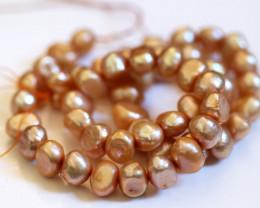 Golden Cream Baroque Pearl Strands GOGO 1904