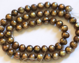 Golden Bronze (off colour) Baroque Pearl Strand GOGO 1977