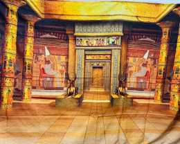 Large Ancient Egyptian Building wall Tapestry  Code Pr 12
