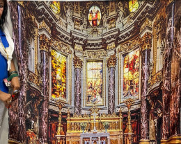 Large Vienna Church mural drop wall tapestry code Pr 14