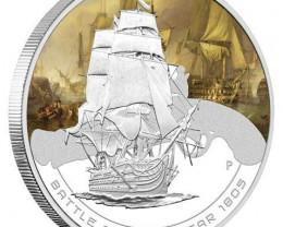1oz Silver Proof Coin Series Battle of Trafalgar 1805  99.9% pure silver co