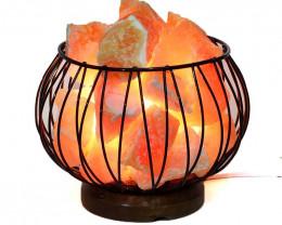 Natural Orange Calcite Rough Amore Lamp