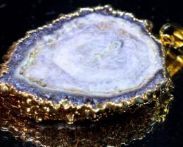 64-Cts Uruguay Amethyst Stalactite Pendant Rja-1657 rarejewelry