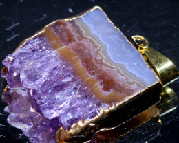 33-Cts Uruguay Amethyst Stalactite Pendant Rja-1661  rarejewelry