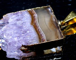 32-Cts Uruguay Amethyst Stalactite Pendant Rja-1662  rarejewelry