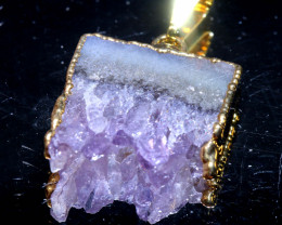 19-Cts Uruguay Amethyst Stalactite Pendant Rja-1665  rarejewelry