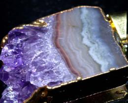37-Cts Uruguay Amethyst Stalactite Pendant Rja-1666  rarejewelry