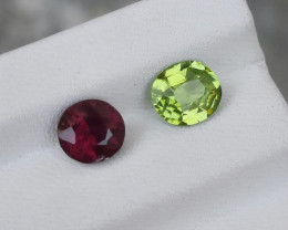 2.65 Carats Natural Peridot Rhodolite Garnet  Nice Cut Gemstone