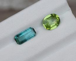 2.10 Carats Natural Peridot Tourmaline Nice Cut Gemstone