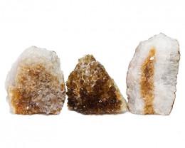 1.68kg Citrine Crystal Geode Specimen Set 3 Pieces DN449
