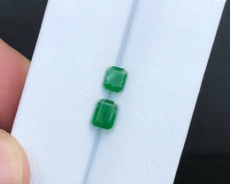 1.55 Carats Natural Emerald Cut Stone from Pakistan Swat